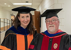 Photo of Prof. Tracey Halloway and Dr. R Bradley Pierce (Director of SSEC)
