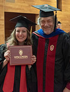 Photo of Emma Sinclair and Prof. Greg Tripoli