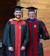 Photo of Austin Dixson and Prof. Leigh Orf
